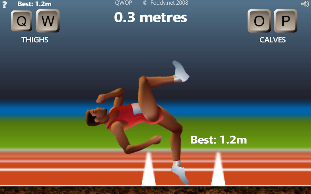 QWOP   by Bennett Foddy