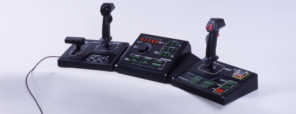 Capcom's   Steel Battalion   (2002) controller, for  realistic  mech piloting. ( Image source )