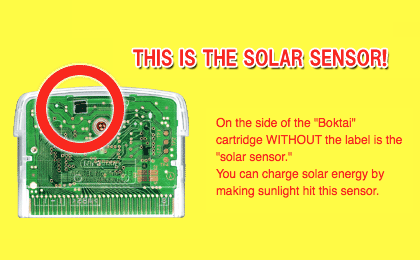 From the  Solar Energy page  of the  Konami  Boktai  site