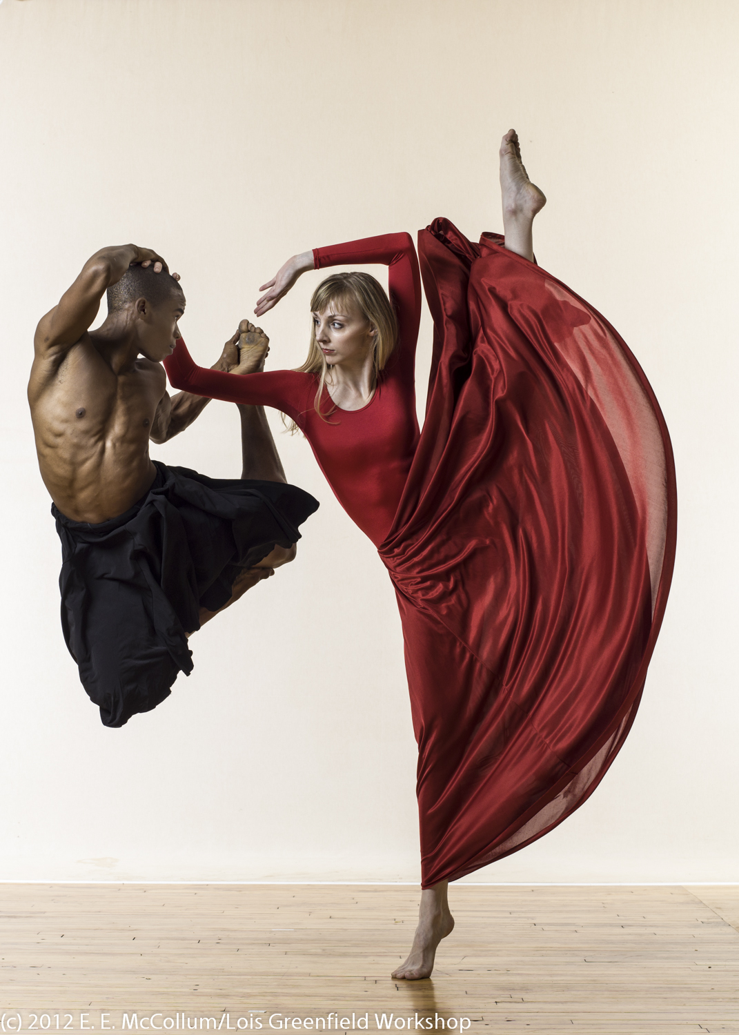 Dancers Edward Spots and Lindsey Miller at Lois Greenfield Workshop - NYC
