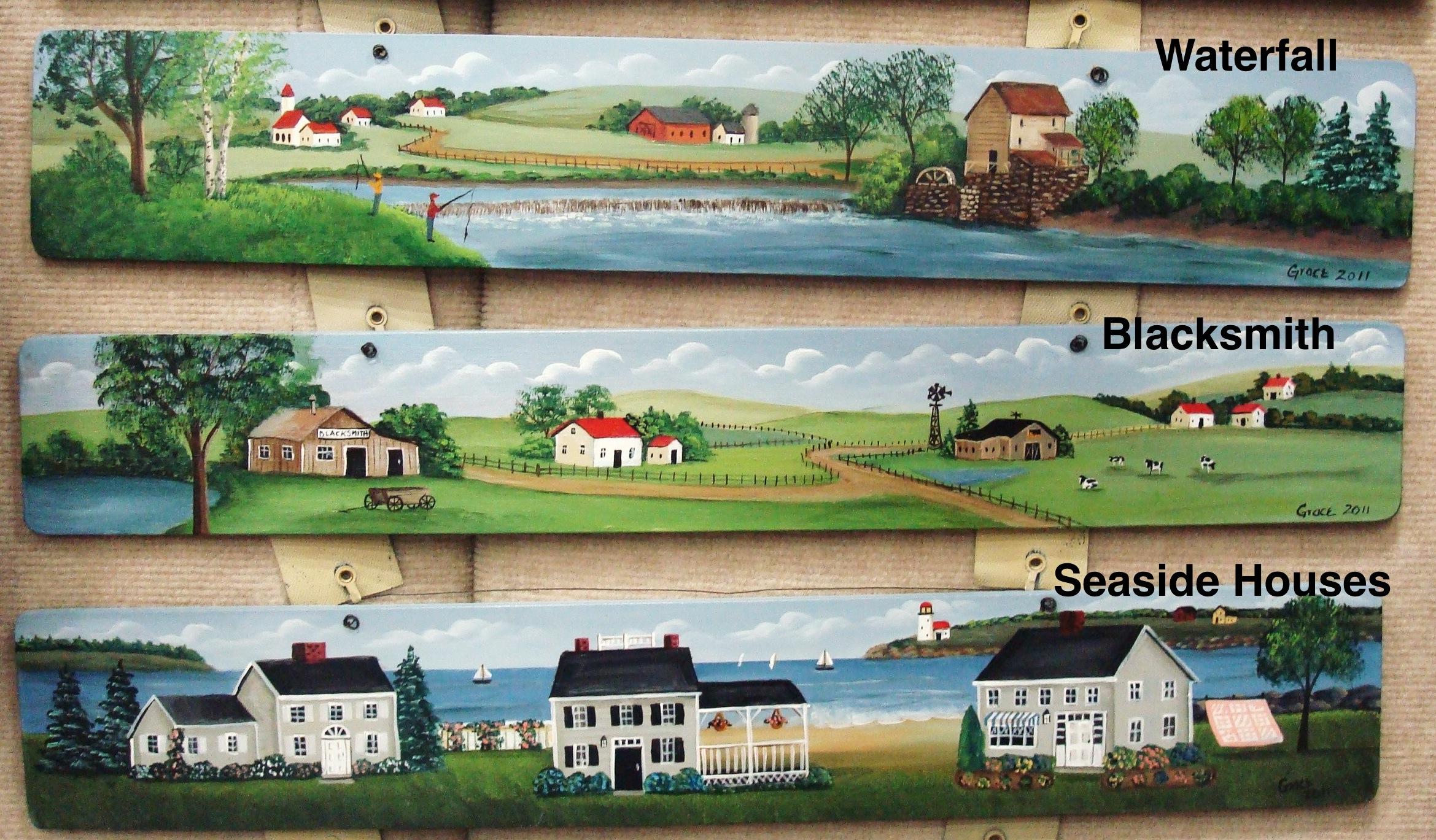 Waterfall / Blacksmith / Seaside Houses