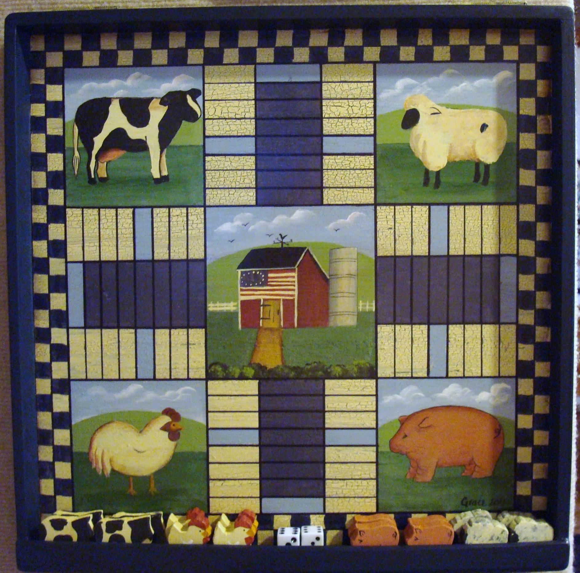 Farm Animal Pachisi Board