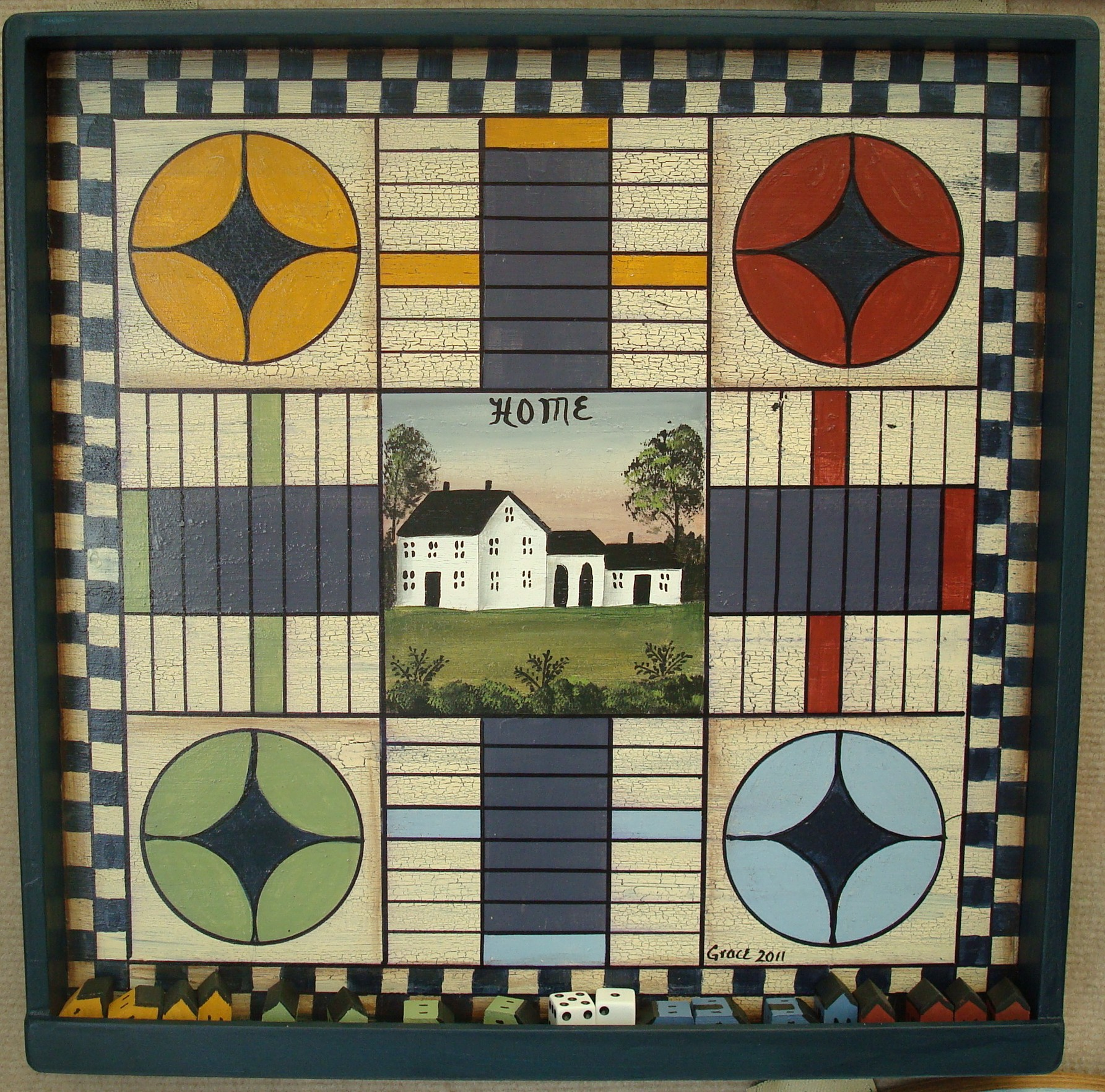 Country Home Pachisi Board
