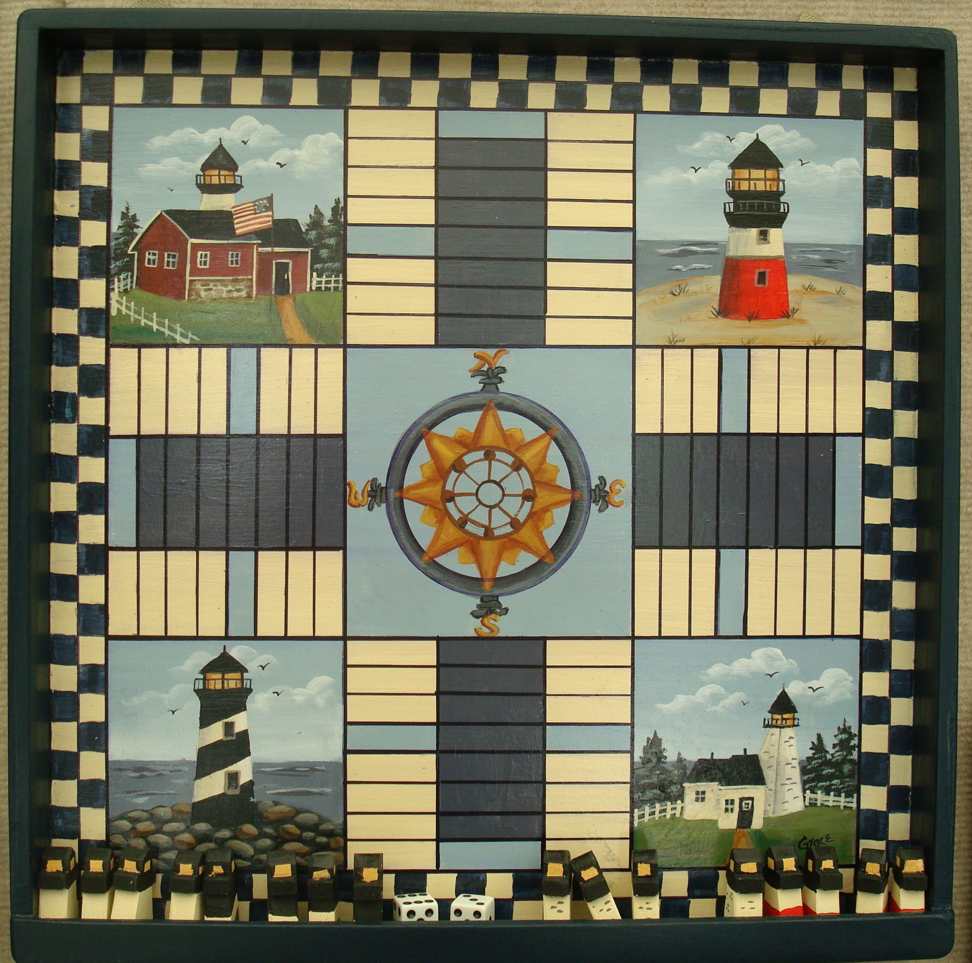 Lighthouse Pachisi Board