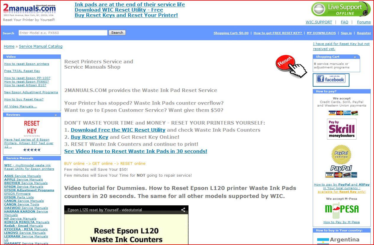 Mit einem klick -> auf die Seite von 2manuals.com