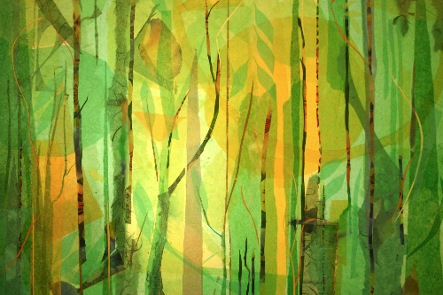 Summer Wood Series #5 Collage ©Barb Carr