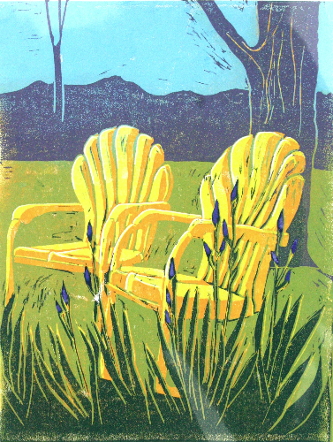 Old Friends Relief Print ©Barb Carr