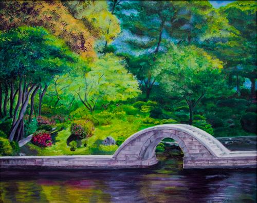 A Peaceful Place in Hiroshima Acrylic on Canvas by J. Gazo-McKim ©2010