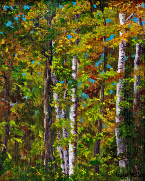 Glints of White Acryic on Canvas by J. Gazo-McKim ©2012