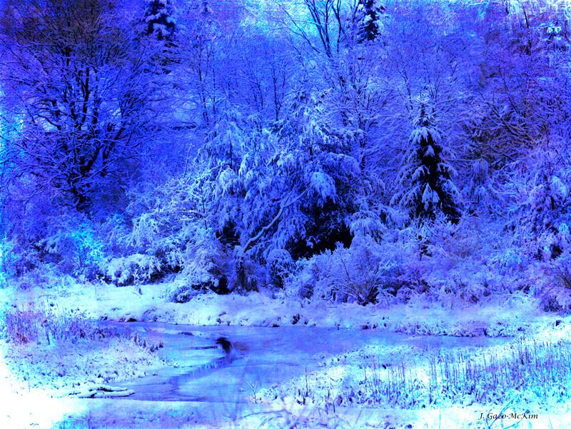 Blue Morning Blue Day by J. Gazo-McKim