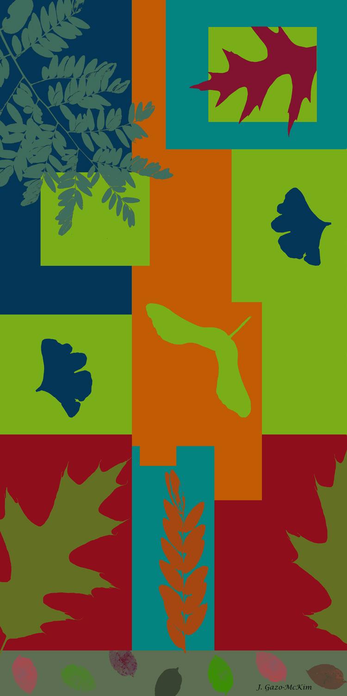 Autumn Abstract a la Matisse by J. Gazo-Mckim ©2014