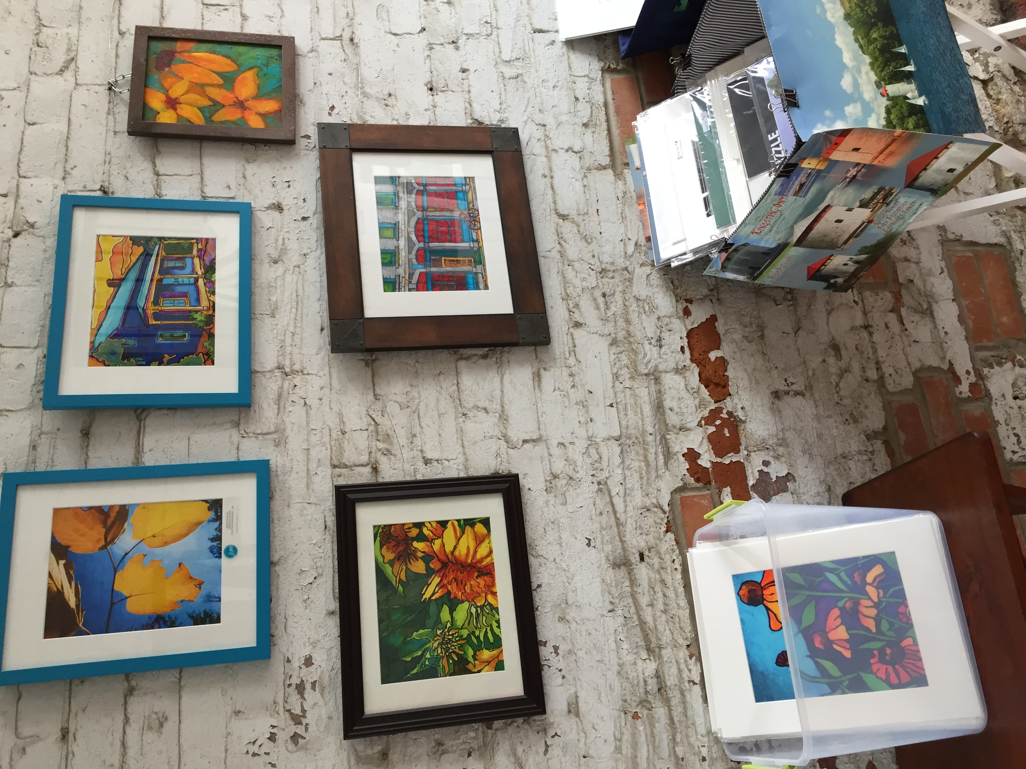 My fine art prints and pen and ink drawings at Martello Alley