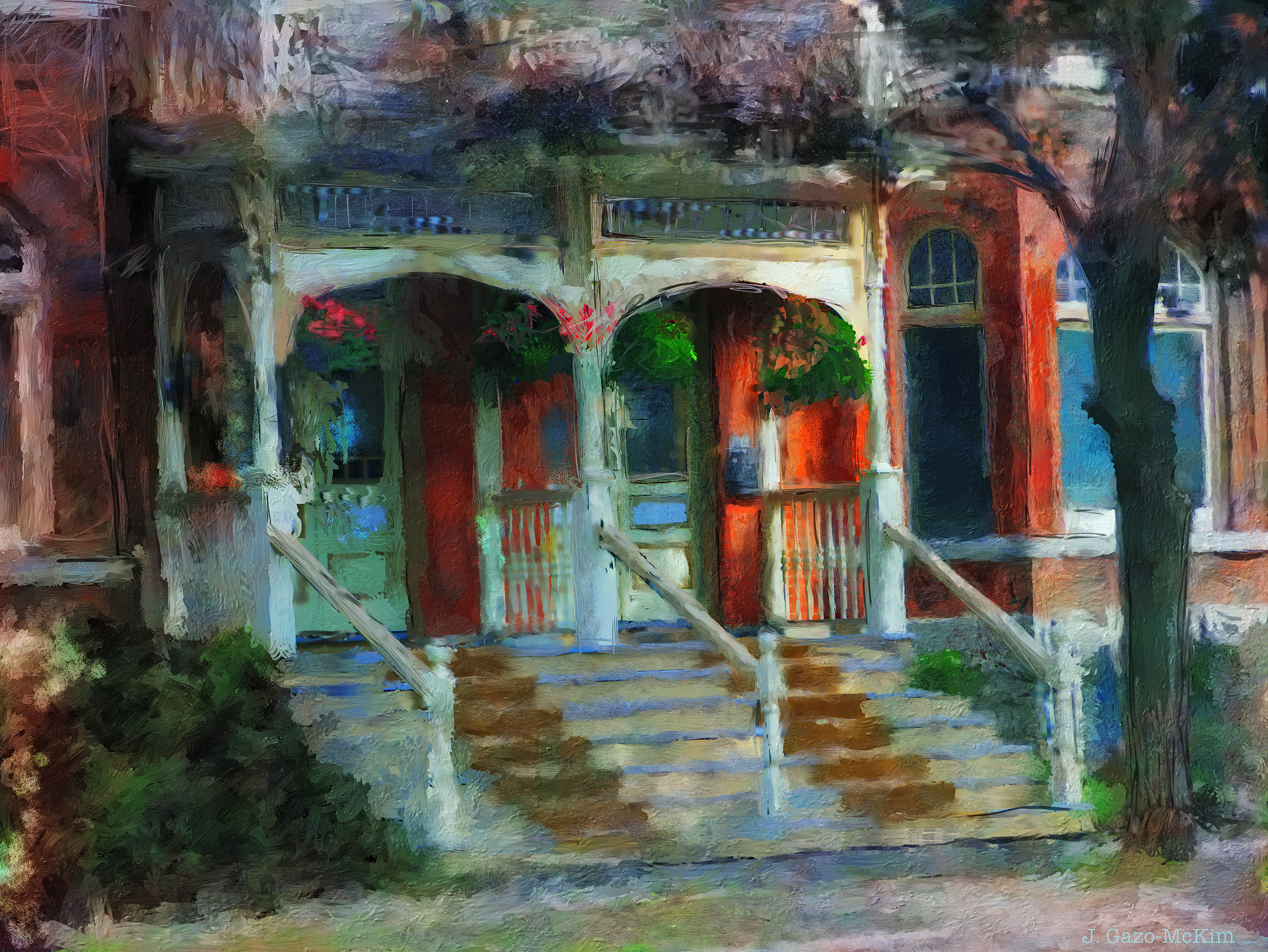 Porch in the Morning Light by J. Gazo-McKim