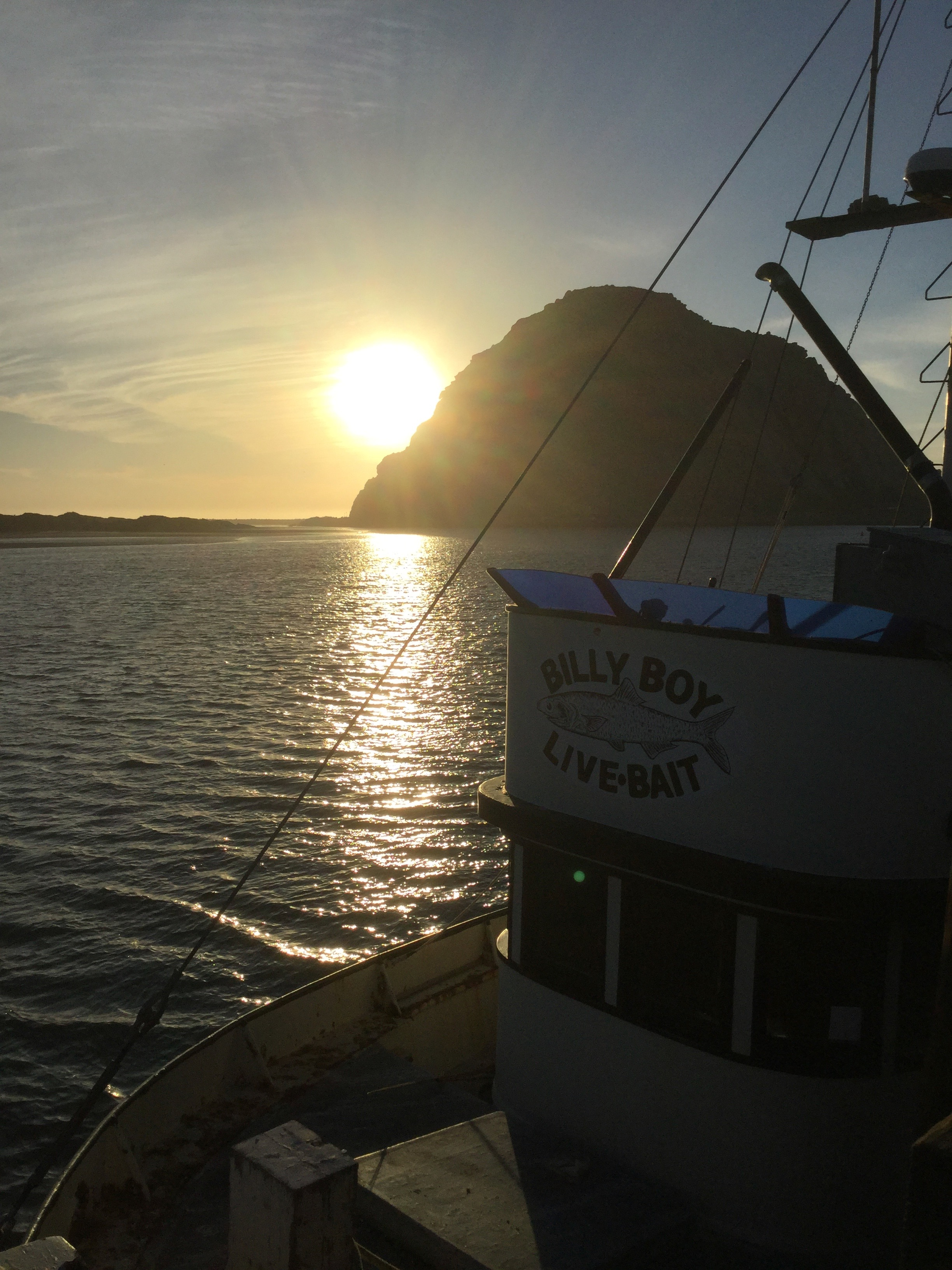 Gorgeous sunset at Morro Bay,California
