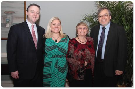 Honoree Carol Brady, Ph.D. and family