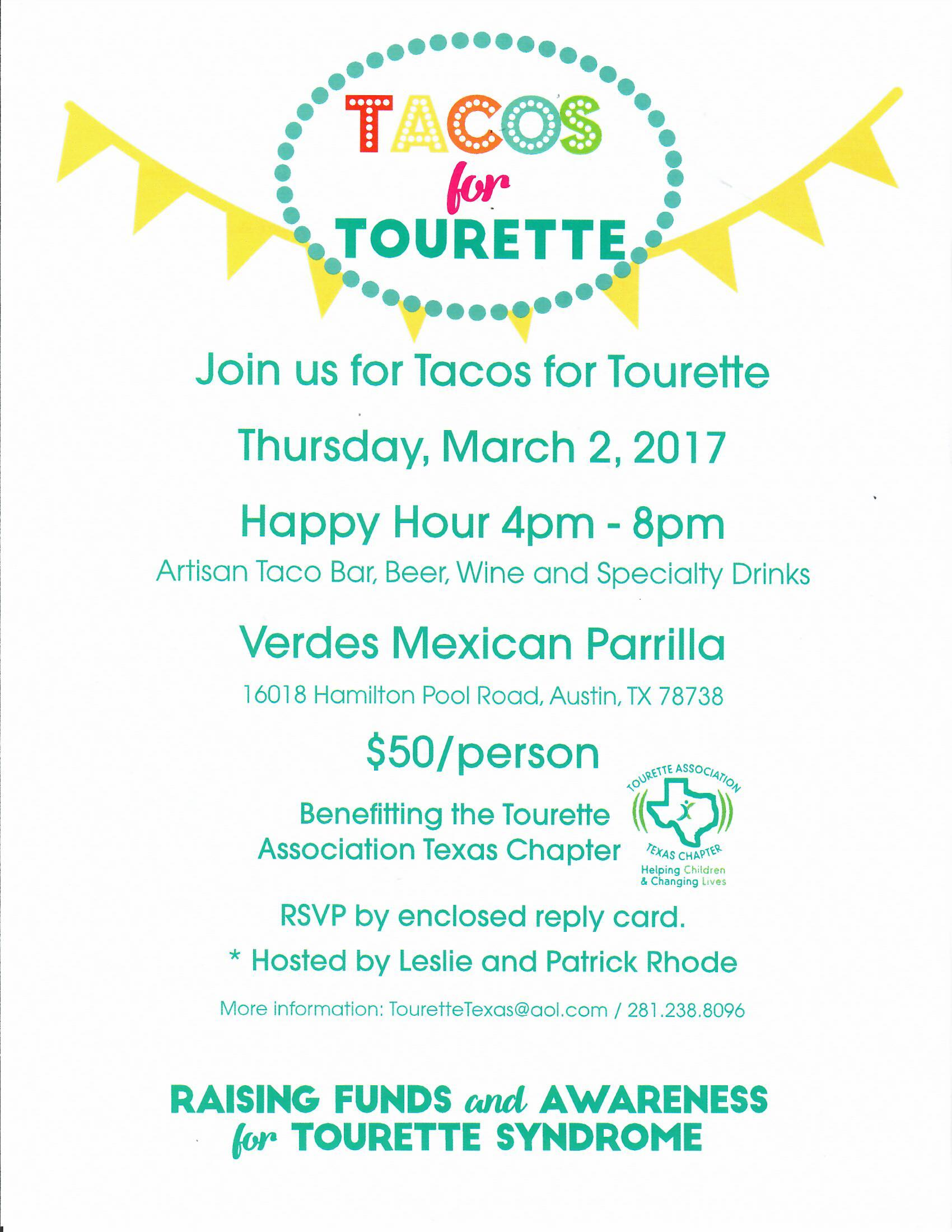 PURCHASE TICKETS ON-LINE AT   http://tinyurl.com/tacosfortourette