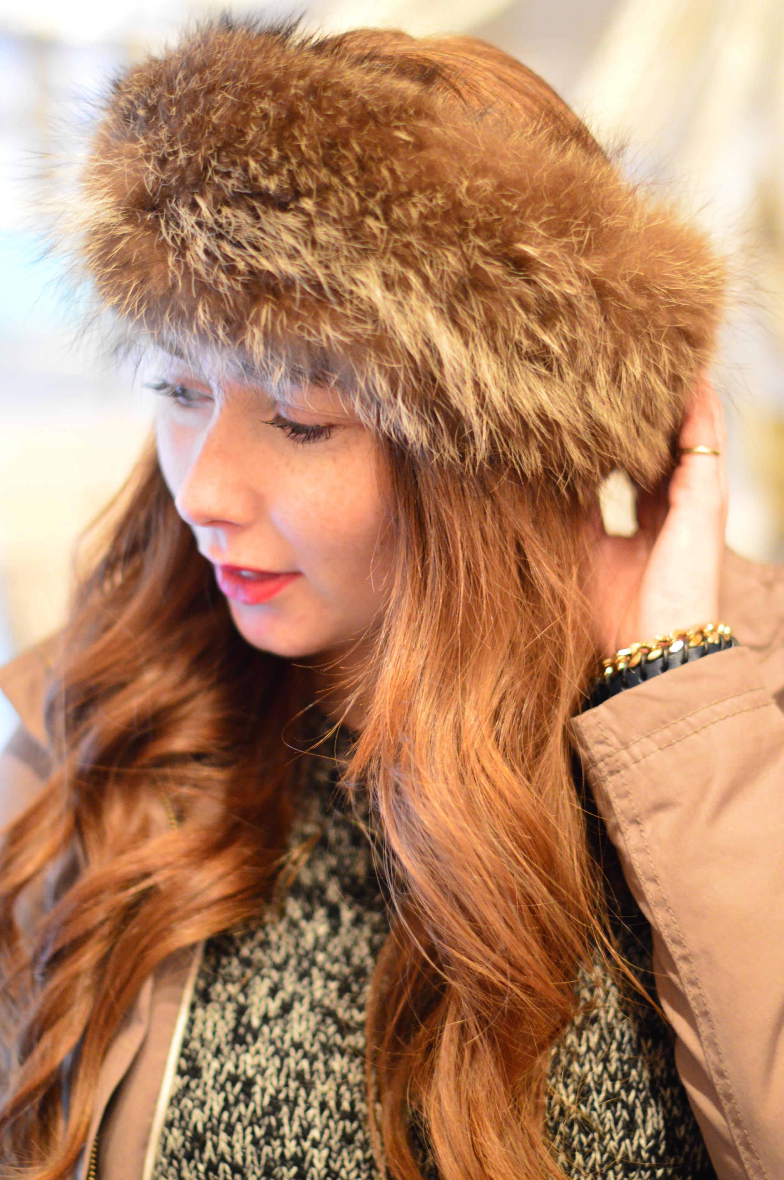Headmistress Shania fur headband, Brave Leather Tikiki bracelet