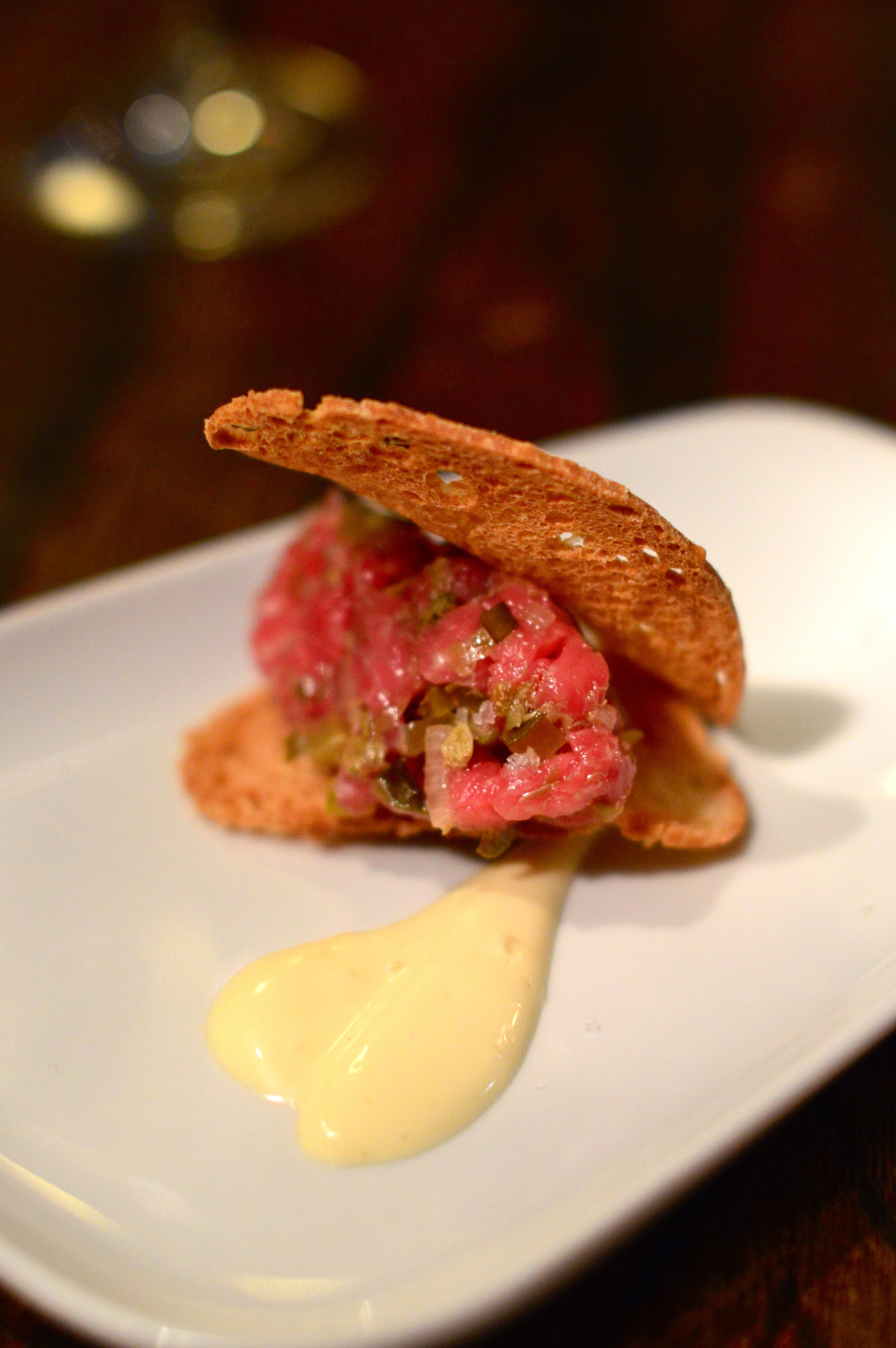Each week there is a surprise fourth course! For us it was steak tartar.