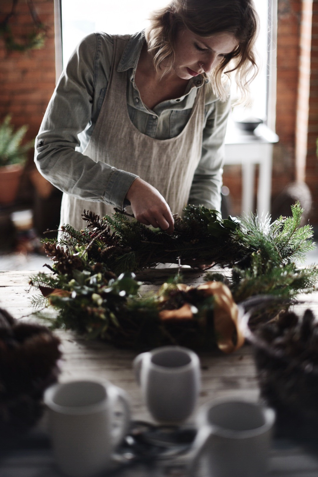Wreath making with Jessica Hunter, the floral designer behind A Fine Medley