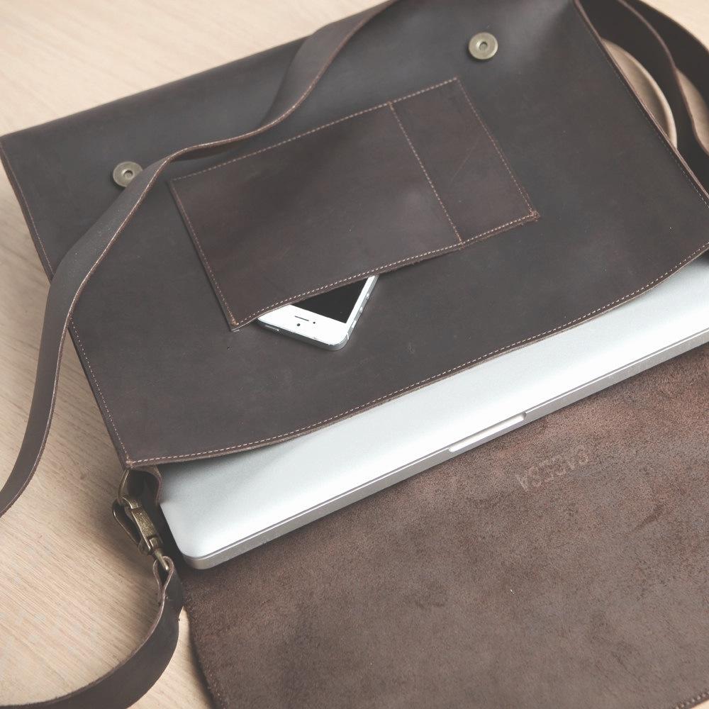 Leather Messenger Bag  - $410.00