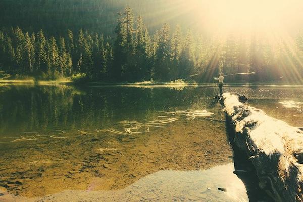 Early morning fishing ritual.