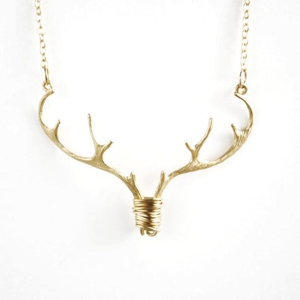 'Wild And Free' Elk Antler Necklace  - $40.00