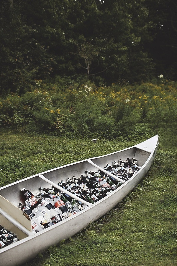 Secret to colder beer | Ice, Water, Beer, Salt and some sort of container (a canoe works) - shot by Sarah Culver Photography