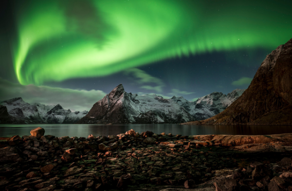 Auroras over Northern Norway, by   Lorenzo Montezemolo