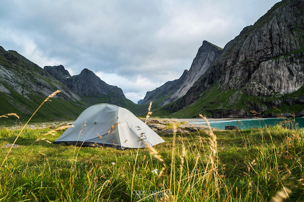 Wild camping on Horseid Beach, Norway by Cody Duncan via  68north