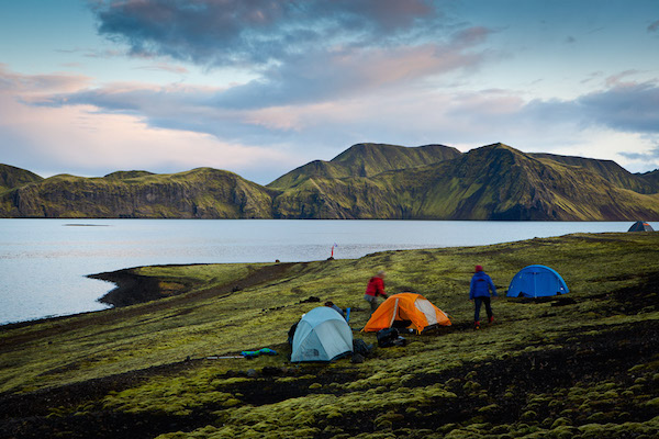 Camping at Lake Langisjór. Shot by Christopher Lund.