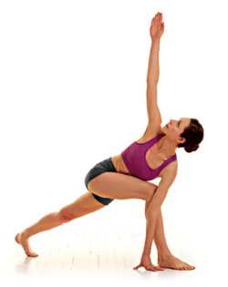 I recommend having your bottom hand on the INSIDE of your front leg. Back leg is strong and twist from the belly as much as you can, not the shoulders.