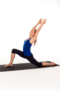 This one feels good to go deep and lengthen out your lunge a bit, especially if you are warmed up and wanna open up the heart space a bit. Squeeze inner thighs together without moving legs, it will provide balance and stability.