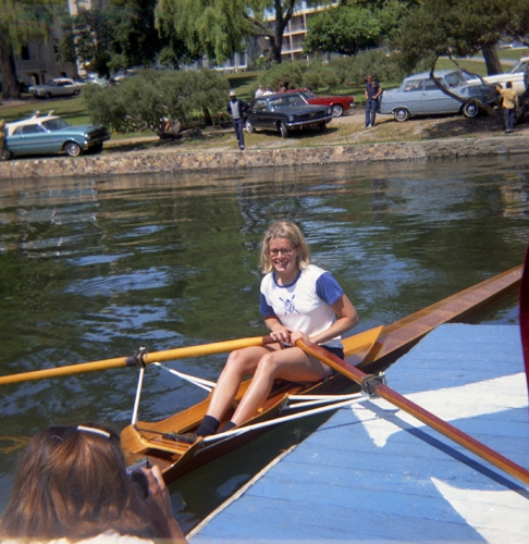 1967 NWRA National Championships, Lake Merritt  Jinx Becker - 1st place, heavy singles