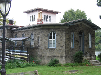 Front left view, PGRC boathouse