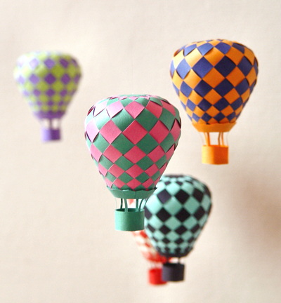 Woven Paper Balloons