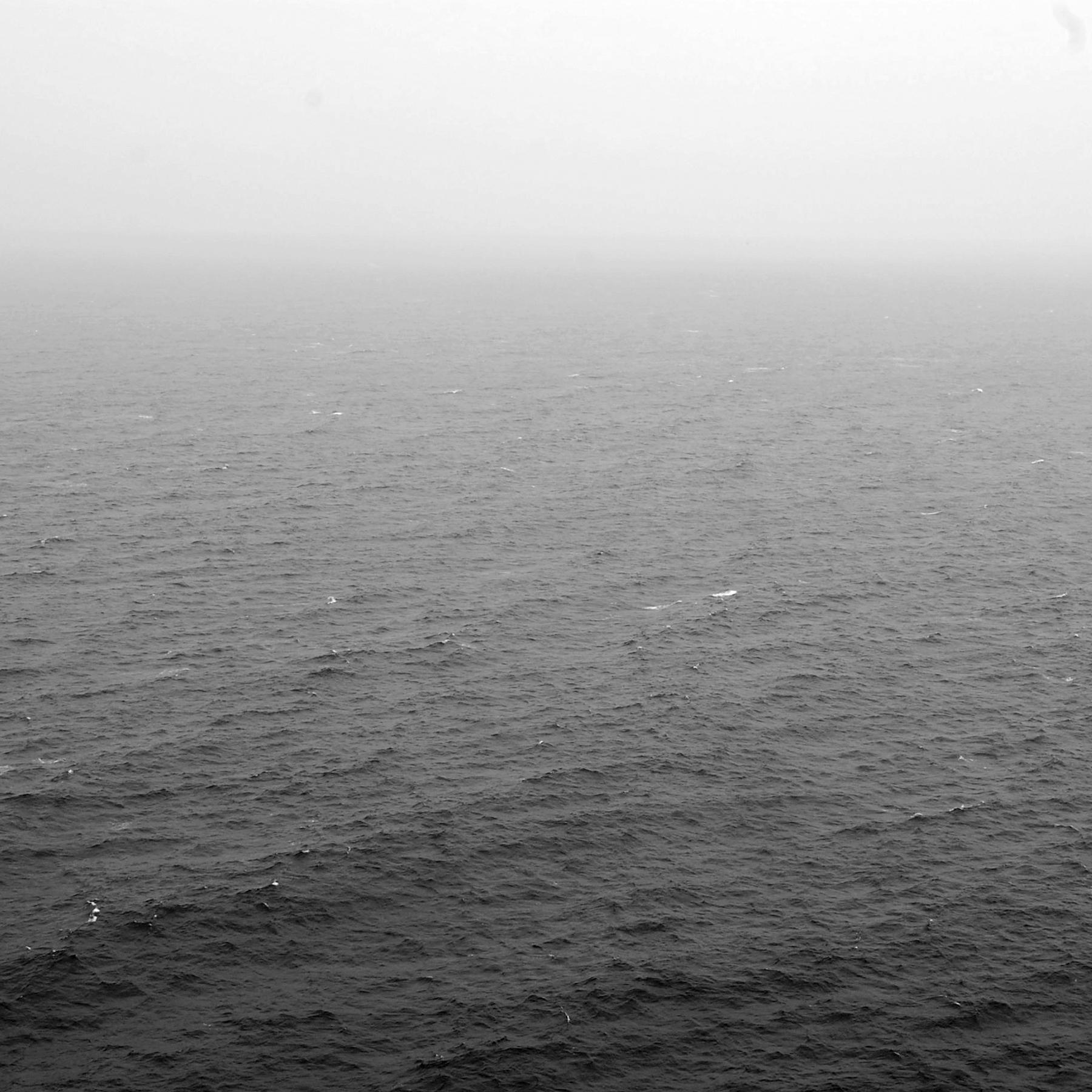 The sea on a foggy day.