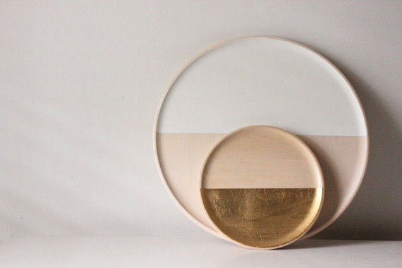 Vintage Vogue Story  Wooden dipped tray.