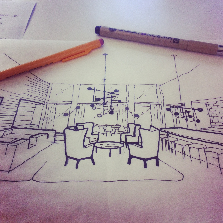 Continuing interior design