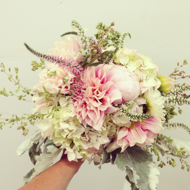 Vintage summer wedding bouquet