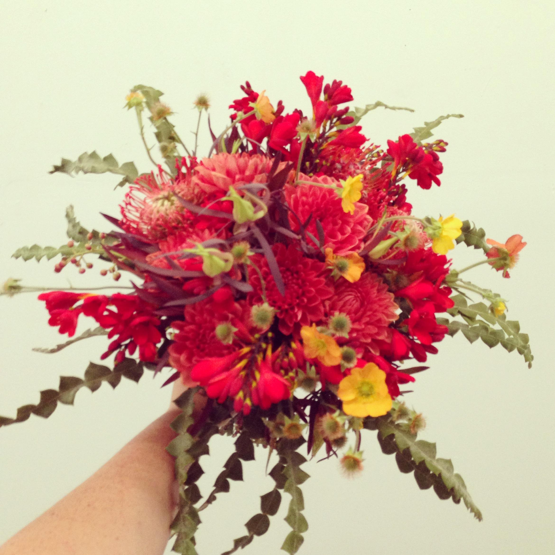 2013-08-30 Red Modern Wedding Bouquet.jpg
