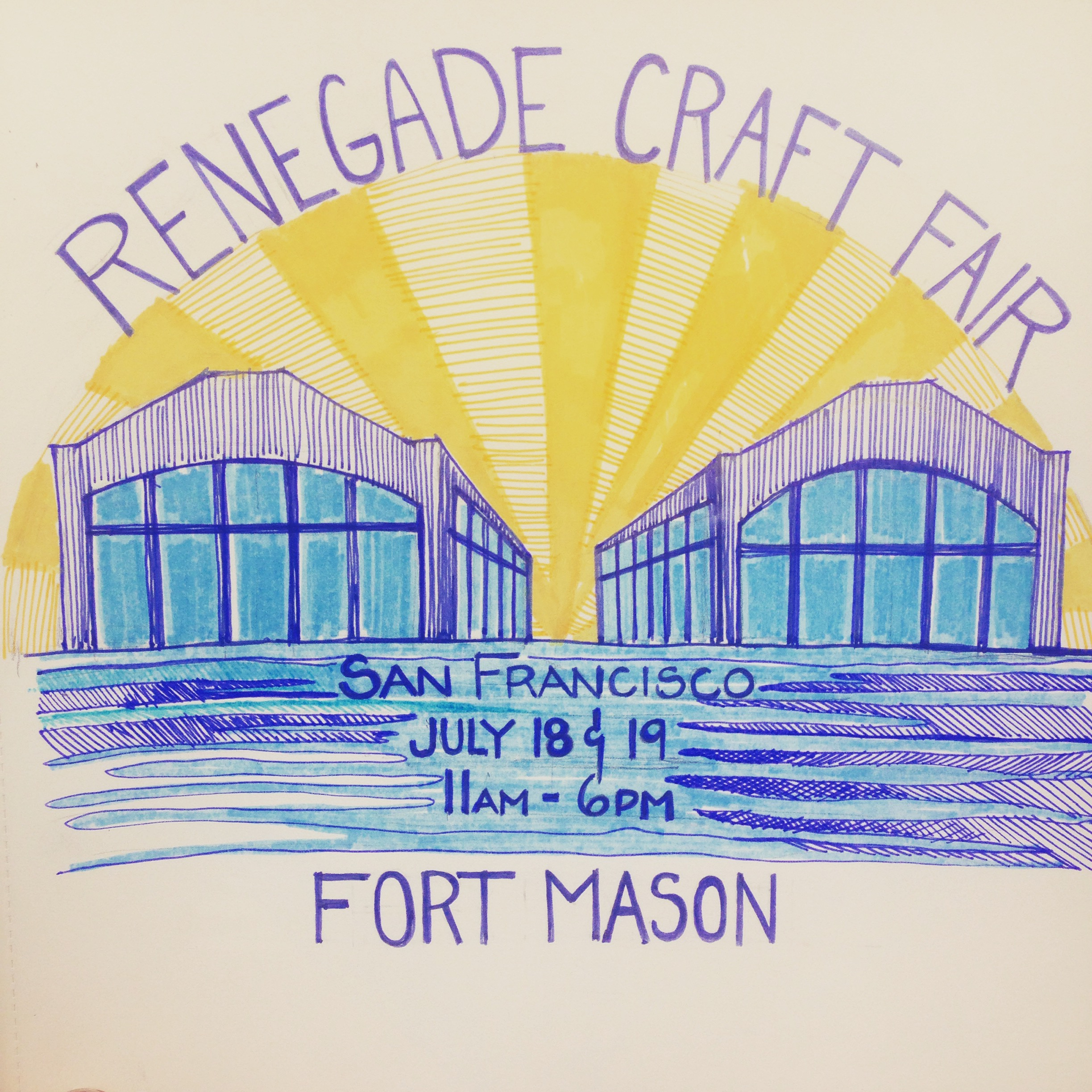 Renegade Craft Fair - Illustration by Madeline Trait
