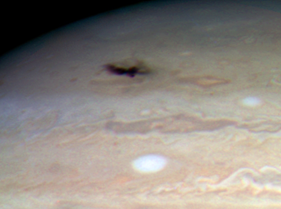 Image of 2009 Jupiter impact from the Hubble Space Telescope (Source:NASA, ESA, H. Hammel (Space Science Institute, Boulder, Colo.), and the Jupiter Impact Team)