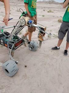 Missouri University of Science & Technology's Mars rover in the deserts of Utah. ( Credit: Missouri S&T )