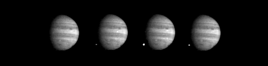 The white flash of Fragment W hitting Jupiter's atmosphere as seen from Nasa's Galileo spacecraft.  Credit: Nasa/JPL Source: Nasa Photojournal