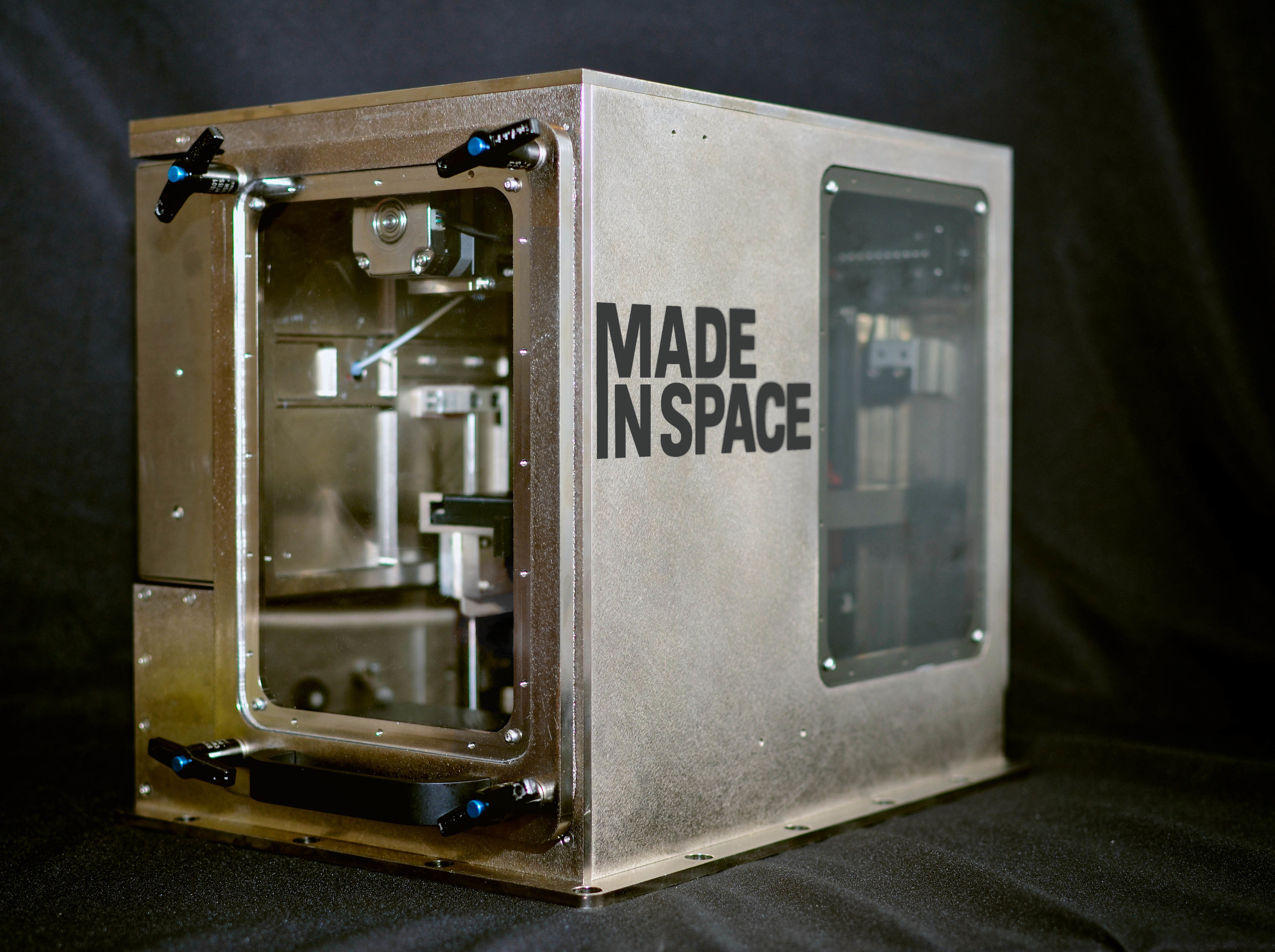 The Made in Space 3D printer will create objects out of thermoplastics on the International Space Station in 2014.   Source: Made in Space