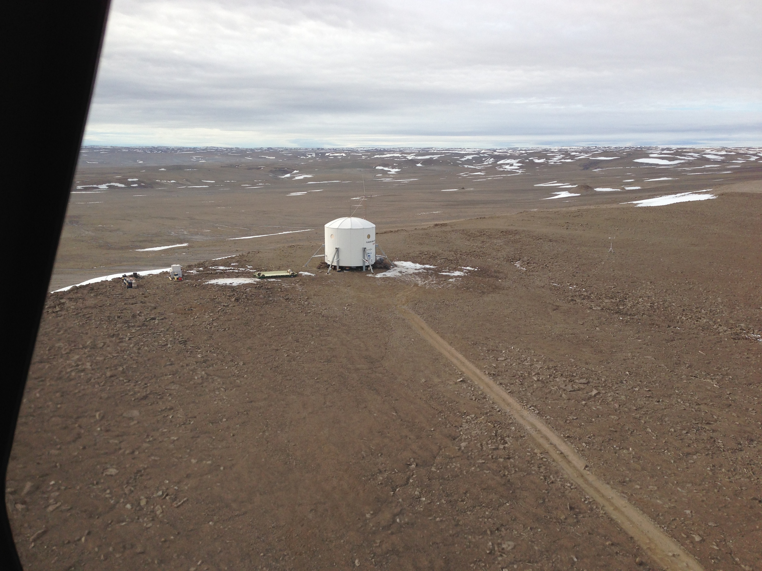 Perched on the rim of an ancient asteroid impact crater, the Flashline Mars Analog Research Station is more than a hundred kilometers from anywhere.  Source:  Mars Society MA365 Project