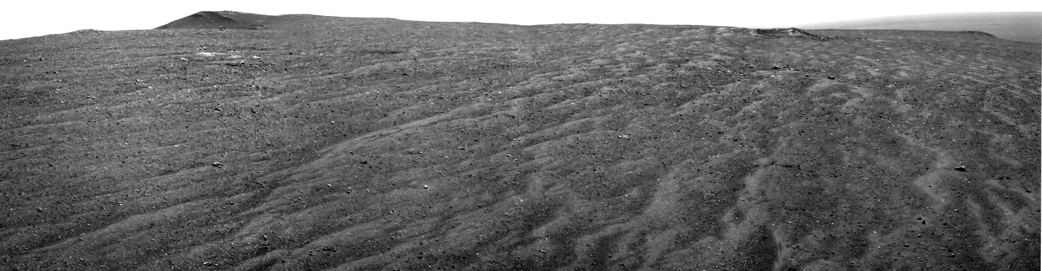 The latest panorama from Mars Exploration Rover Opportunity taken on Sol 3856. (Click to make bigger or follow the link for original data)  Source:  Nasa/JPL-Caltech , Image Processing: Chris Casper