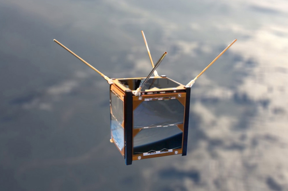 A mockup of the Ardusat educational satellite.  Credit:  Ardusat