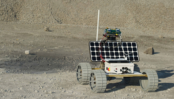 Carnegie Mellon University's student-built lunar rover Andy.  Credit:  Carnegie Mellon University