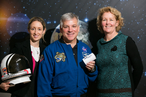 Former Nasa astronaut Greg Johnson at Esero Ireland's kickoff of the 2015 CanSat season.  Credit:  Esero-Ireland